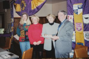 Sue and sponsors 25 years ago
